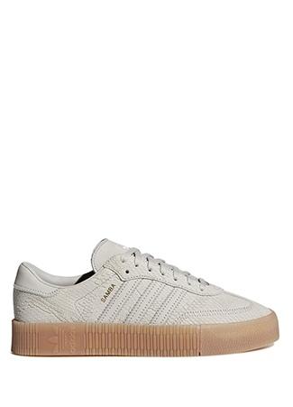 Kadın Sambarose Bej Deri Sneaker Kahverengi 5 UK
