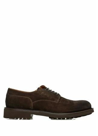 Kahverengi Yuvarlak Burun Erkek Süet Ayakkabı