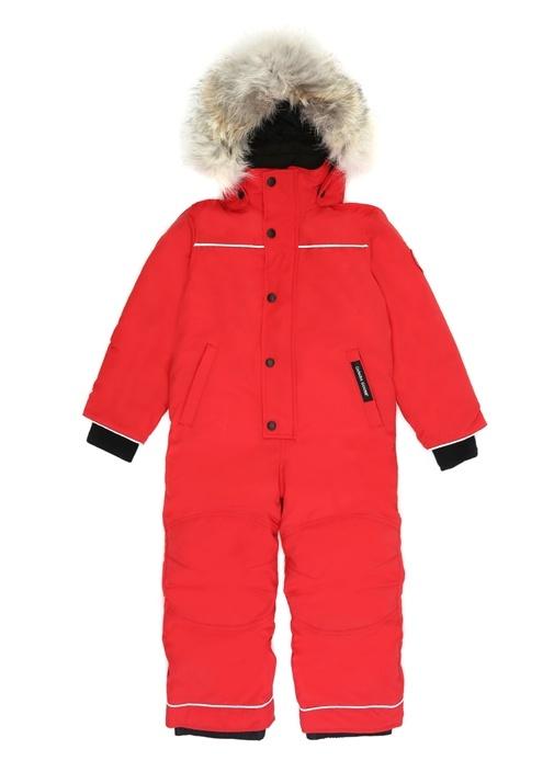 Grizzly Kırmızı Kapüşonlu Çocuk Kayak Tulumu