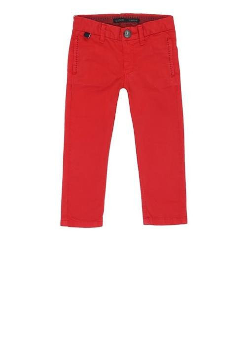 Slack Fit Kırmızı Dar Paça Erkek Çocuk Pantolon