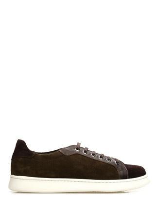 Yeşil Kahverengi Erkek Süet Sneaker