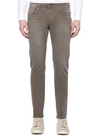 Slim Fit Haki Normal Bel Jean Pantolon
