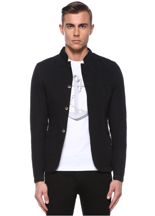 Siyah Dik Yaka Ceket