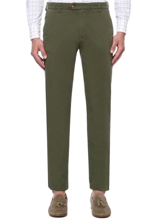 Slim Fit Haki Normal Bel Chino Pantolon