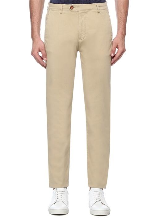Regular Fit Bej Panama Dokulu Chino Pantolon