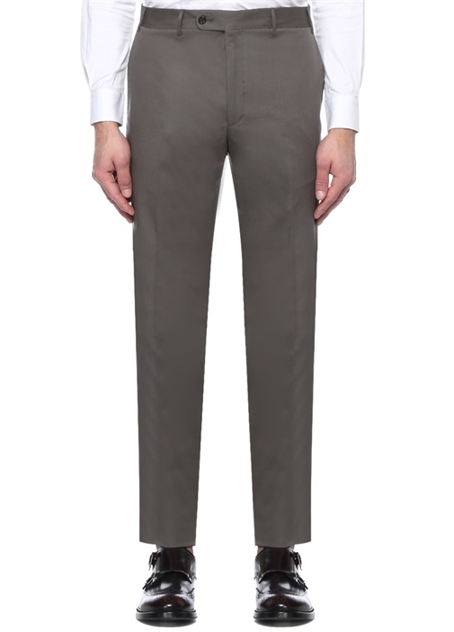 Drop 7 Gri Boru Paça Kanvas Pantolon
