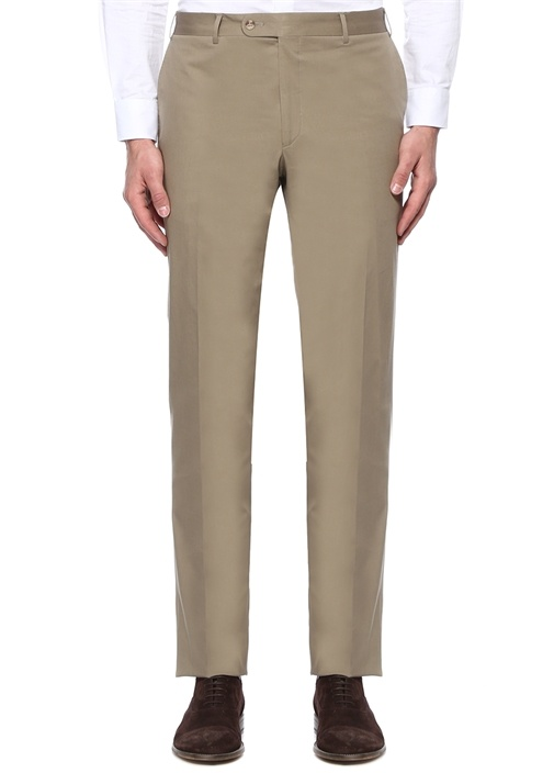 Drop 7 Bej Boru Paça Kanvas Pantolon