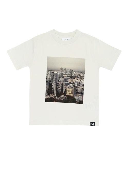 Rezin Ekru Baskılı Erkek Çocuk T-shirt