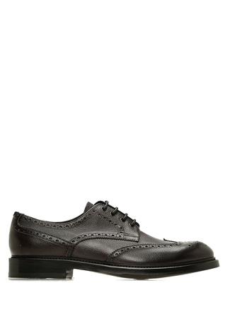 Kahverengi Klasik Oxford Erkek Deri Ayakkabı
