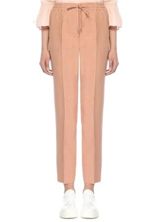 Somon Beli Bağcıklı Pijama Formlu Pileli Pantolon
