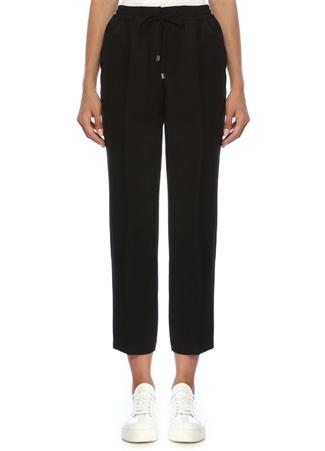 Beymen Club Kadın Siyah Beli Bağcıklı Dökümlü Pijama Pantolon 38