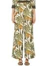 Tropikal Desenli Pijama Formlu Bol İpekPantolon