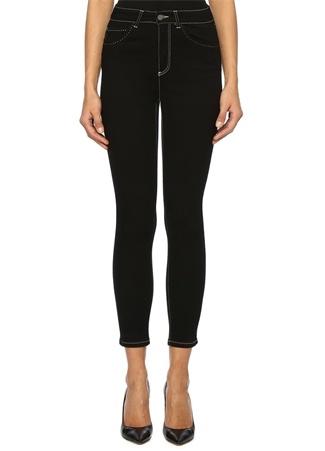 Beymen Club Kadın Siyah Yüksek Bel Dikişli Skinny Jean Pantolon 28