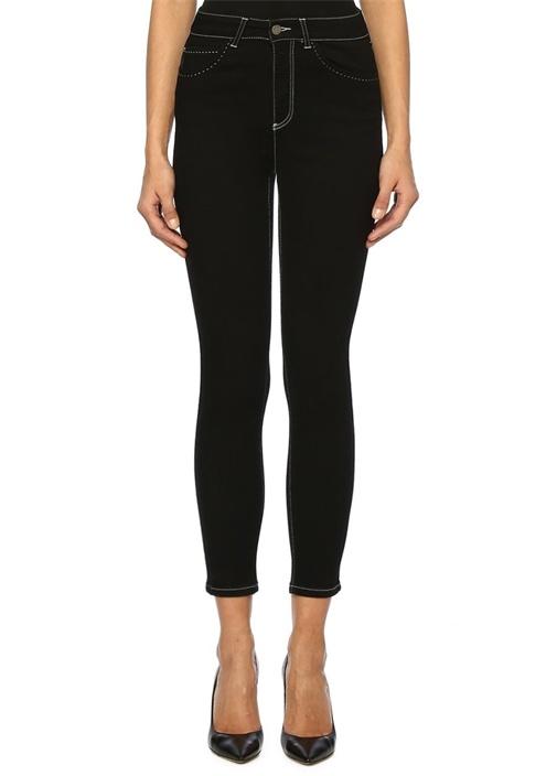 Beymen Club Siyah Yüksek Bel Dikişli Skinny Jean Pantolon – 299.0 TL