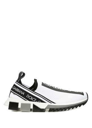 Dolce&Gabbana Kadın Sorrento Siyah Beyaz File Dokulu Sneaker 36.5 EU