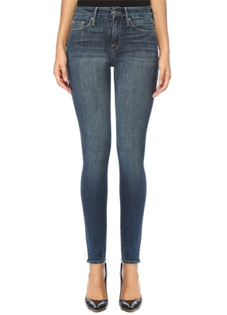 Good American Kadın Legs Yüksek Bel Skinny Jean Pantolon Mavi 30 US