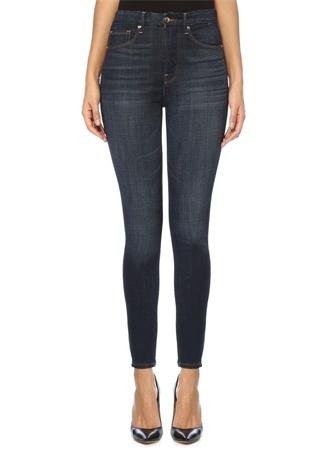 Good American Kadın Waist Yüksek Bel Skinny Jean Pantolon Lacivert 32 US