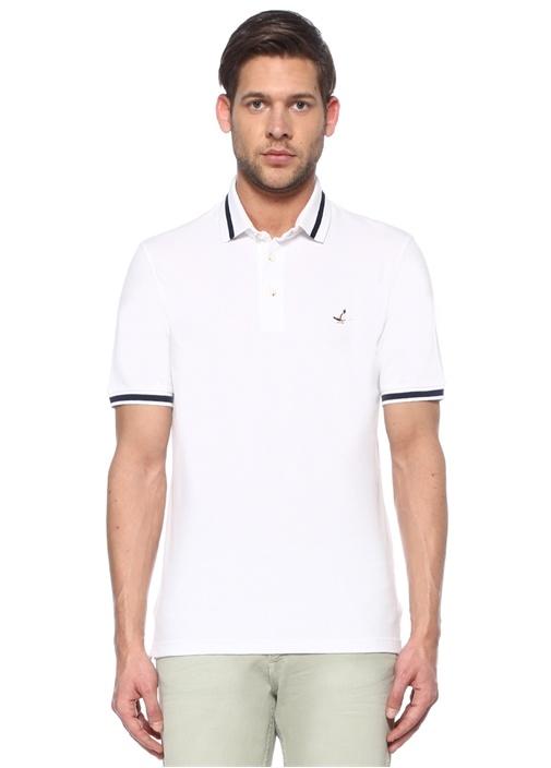 Comfort Fit Beyaz Çizgi Detaylı T-shirt