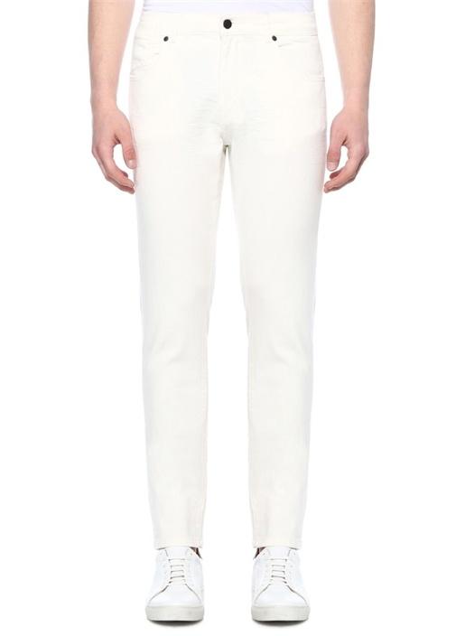 Slim Fit Beyaz Jean Pantolon