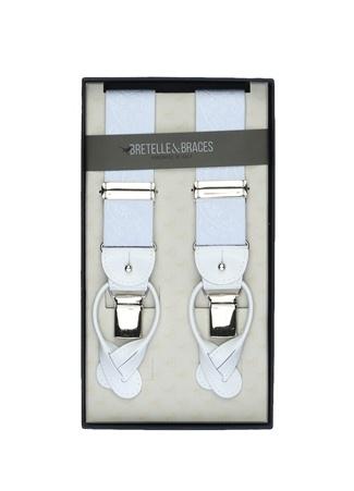 Bretelle & Braces Erkek Beyaz Şal Desenli Dokulu PantolonAskısı EU male Standart