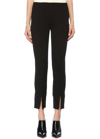 The Row Kadın Thilde Siyah Paçası Yırtmaçlı Streç Pantolon M EU