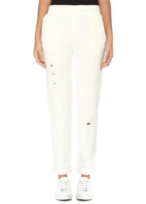 Academıa Beyaz Yıpratma Detaylı Jarse Pantolon – 480.0 TL
