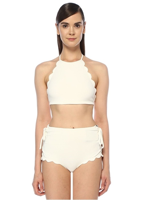 Marysıa Mott Beyaz Halter Yaka Bikini Üstü – 1199.0 TL