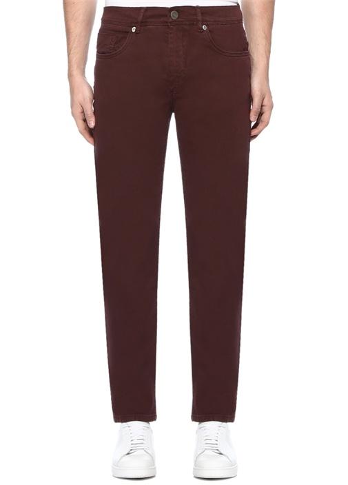 Bordo Normal Bel Boru Paça Spor Pantolon