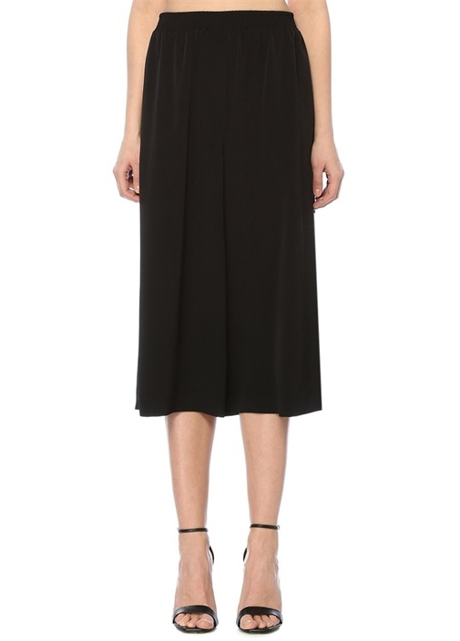 Academıa Siyah Yüksek Bel Bol Paça Crop Krep Pantolon – 420.0 TL
