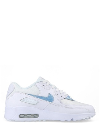 Nike Unisex Çocuk Air Max 90 Mesh Beyaz Sneaker 35.5 US Ürün Resmi