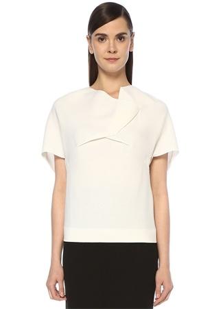 Lindsay Beyaz Yaka Detaylı Yün Gömlek