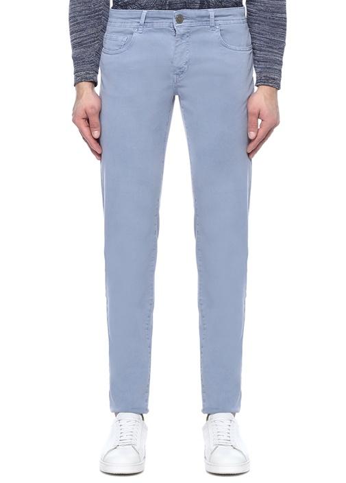 Mavi Normal Bel Boru Paça Chino Pantolon