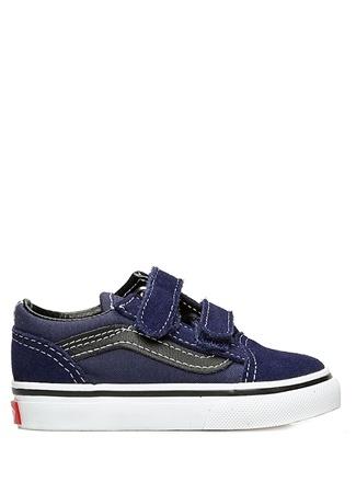 Vans Unisex Çocuk Old Skool V Lacivert Dikişli Sneaker Siyah 26 R Ürün Resmi