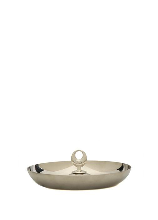Çintemani Yuvarlak Formlu Aynalı Çelik Servis