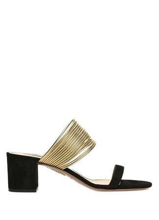 Kadın Rendez Vous Siyah Gold Bantlı Topuklu Ayakkabı 38.5 EU