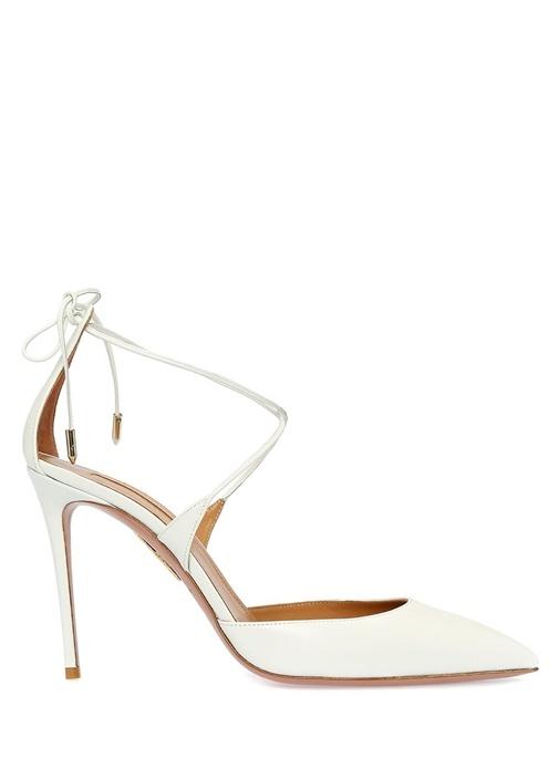 Very Beyaz Kadın Deri Sandalet