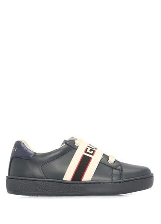 08bff1b07c3d2 Lacivert Bantlı Unisex Çocuk Deri Sneaker