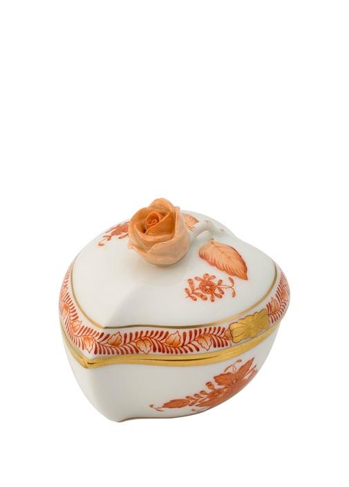 Apponyi Çiçek Motifli Porselen Şekerlik