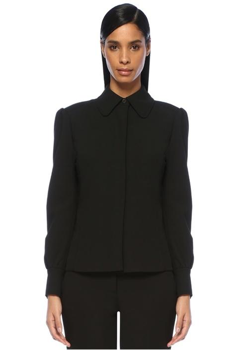 Mıchael Mıchael Kors Siyah Vatkalı Gizli Düğmeli Blazer Ceket – 729.0 TL