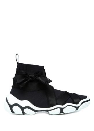 RedV Kadın Glam Run Siyah Şeritli Streç Örme Sneaker 37 EU