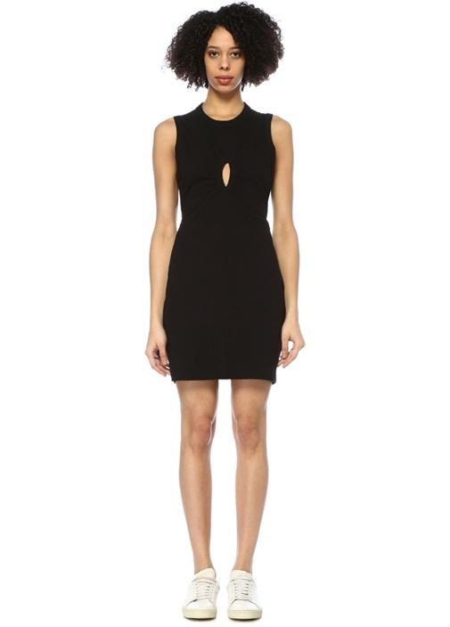 T By Alexander Wang Siyah Önü Dekolte Detaylı Kolsuz Mini Elbise – 1365.0 TL