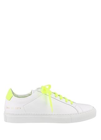 Common Projects Kadın Beyaz Sarı Sayı Baskılı Deri Sneaker 36 EU