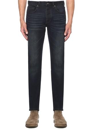 Lacivert Normal Bel Trok Detaylı Jean Pantolon