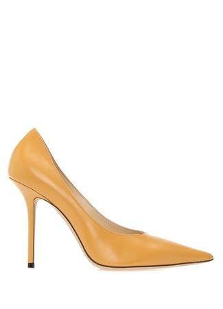 Jimmy Choo Kadın Ava Sarı Deri opuklu Ayakkabı 38.5 R Ürün Resmi