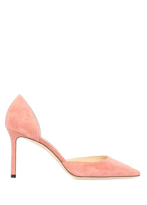 Esther Pembe Süet Topuklu Ayakkabı