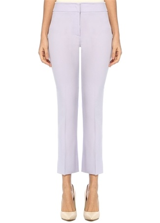 Emporio Armani Kadın Lila Normal Bel Boru Paça Yırtmaçlı Pantolon Mor 42 I (IALY) Ürün Resmi