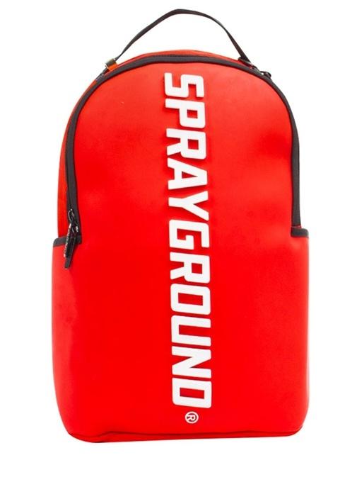 Kırmızı Logolu Erkek Sırt Çantası