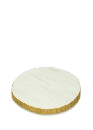 Beyaz Gold 2li Mermer Bardak Altlığı