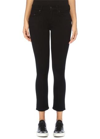 Kadın Capri Siyah Crop Skinny Jean Pantolon 28 US
