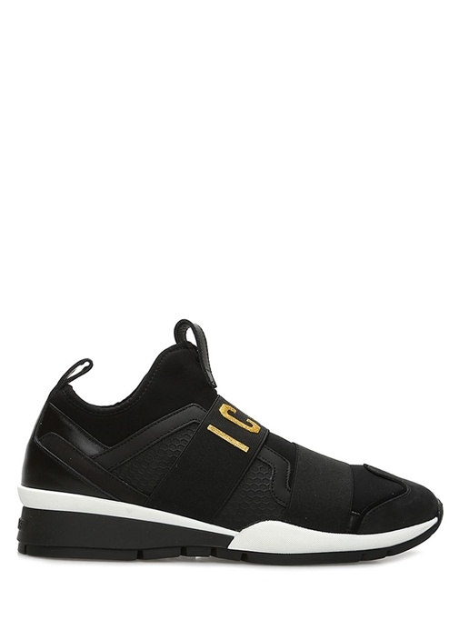 Icon Siyah Gold Dim Baskılı Kadın Sneaker
